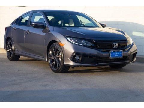 Modern Steel Metallic 2020 Honda Civic Sport Sedan