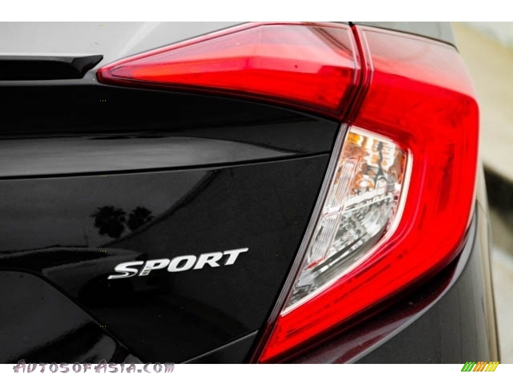 2020 Civic Sport Sedan - Crystal Black Pearl / Black photo #8