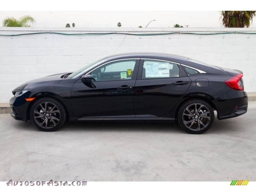 2020 Civic Sport Sedan - Crystal Black Pearl / Black photo #9