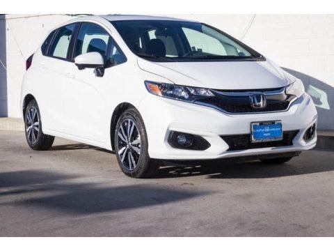 Platinum White Pearl 2019 Honda Fit EX