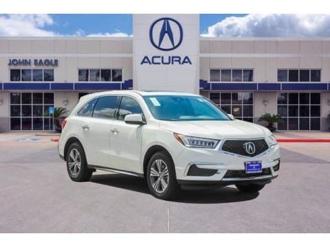 White Diamond Pearl 2019 Acura MDX