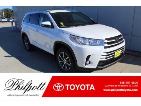 Blizzard Pearl White 2019 Toyota Highlander XLE