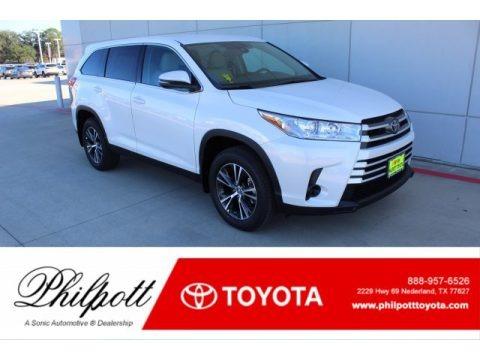 Blizzard Pearl White 2019 Toyota Highlander LE