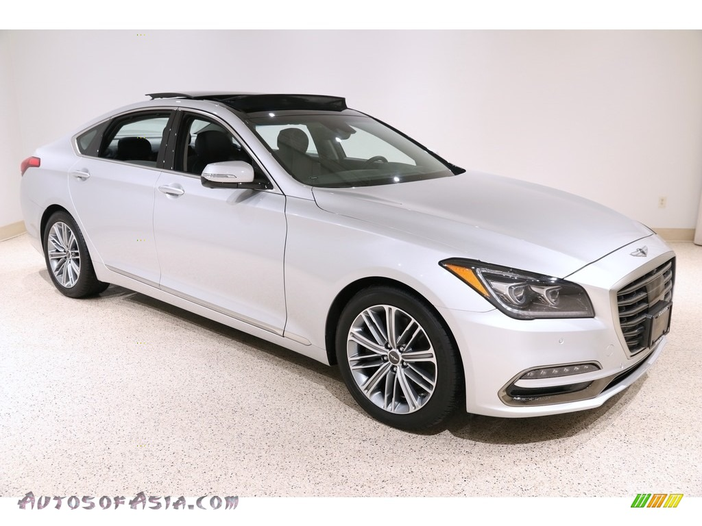 2019 Genesis G80 AWD - Santiago Silver / Black photo #1