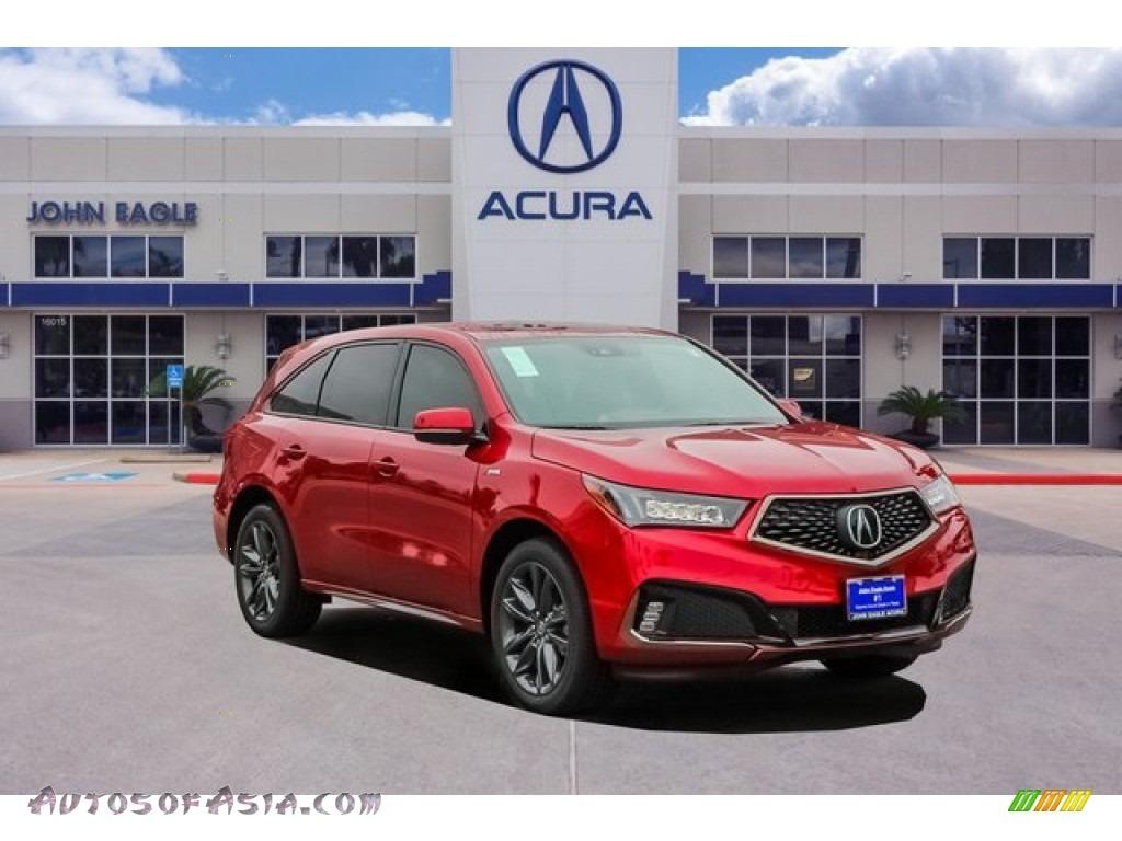 2020 MDX Technology AWD - Performance Red Pearl / Ebony photo #1