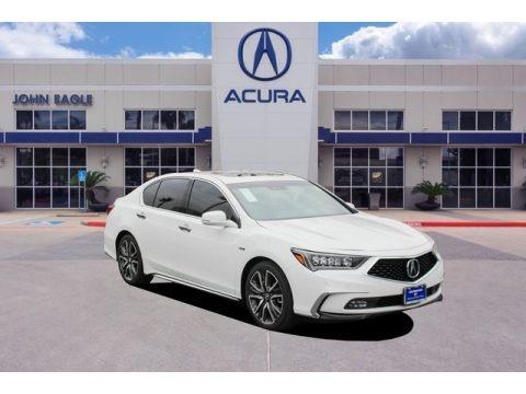 Platinum White Pearl 2020 Acura RLX Sport Hybrid SH-AWD
