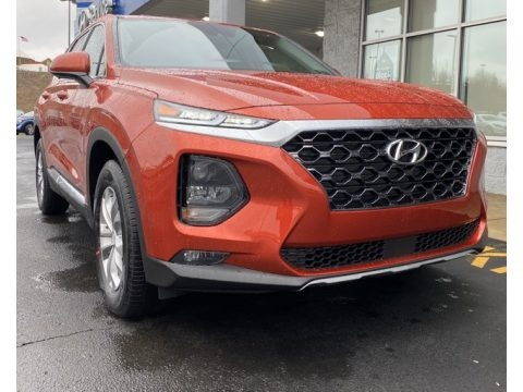 Lava Orange 2020 Hyundai Santa Fe SEL AWD