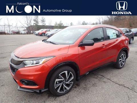 Orangeburst Metallic 2020 Honda HR-V Sport AWD