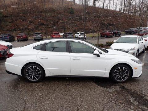 Quartz White 2020 Hyundai Sonata Limited
