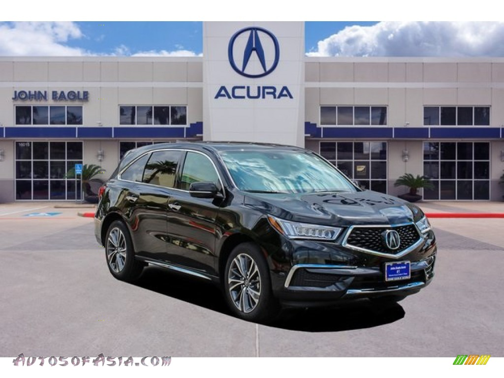 2020 MDX Technology AWD - Majestic Black Pearl / Red photo #1
