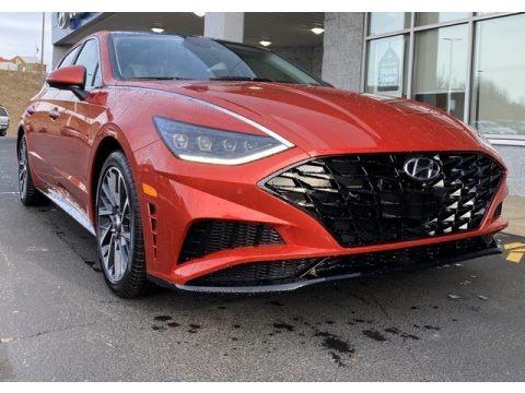 Calypso Red 2020 Hyundai Sonata Limited