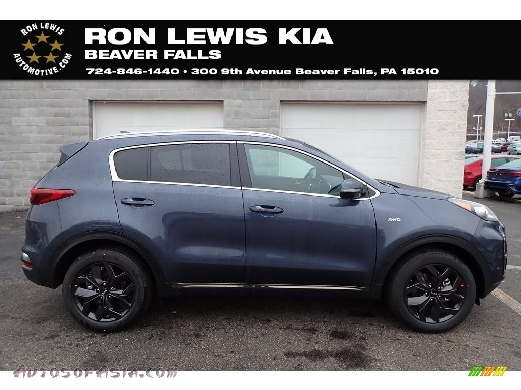 2020 Sportage S AWD - Pacific Blue / Black photo #1