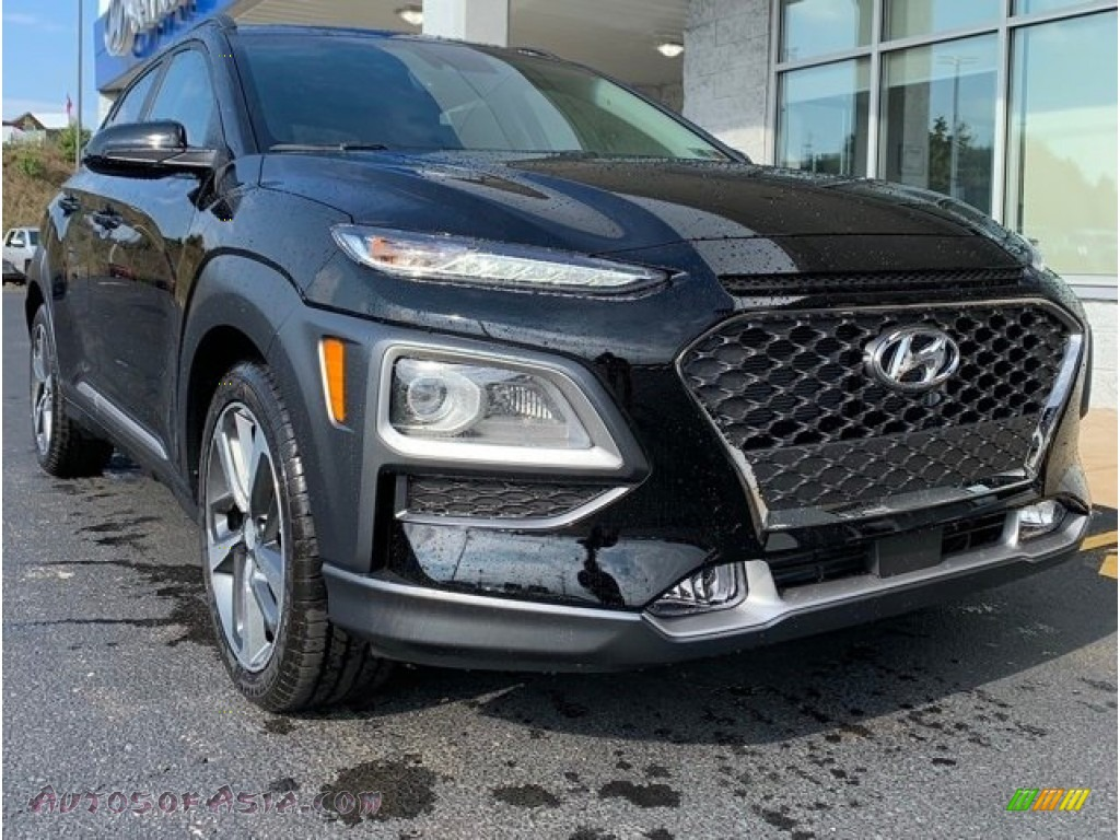 2020 Kona Ultimate AWD - Ultra Black / Black photo #1