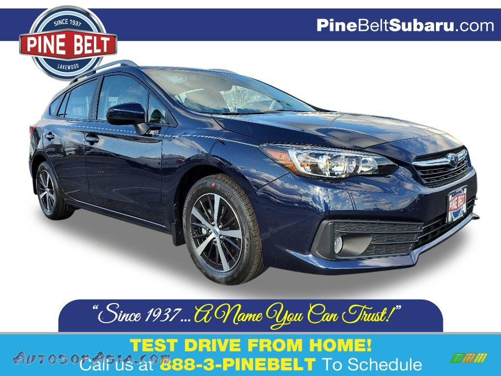 2020 Impreza Premium 5-Door - Dark Blue Pearl / Ivory photo #1