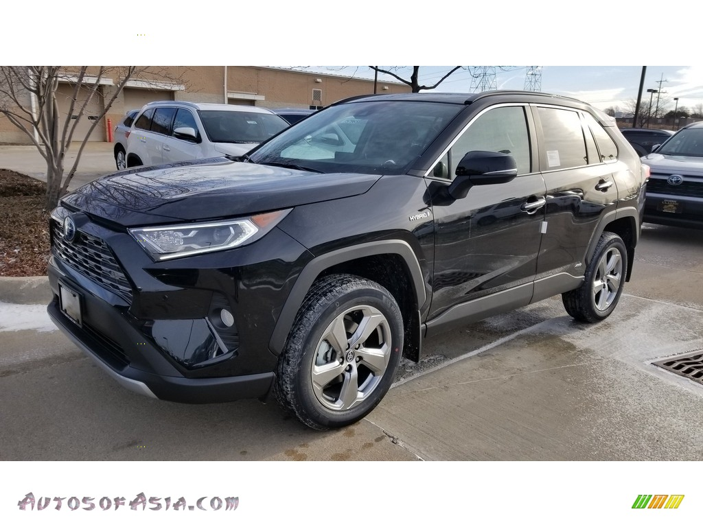 2020 RAV4 Limited AWD Hybrid - Midnight Black Metallic / Black photo #1