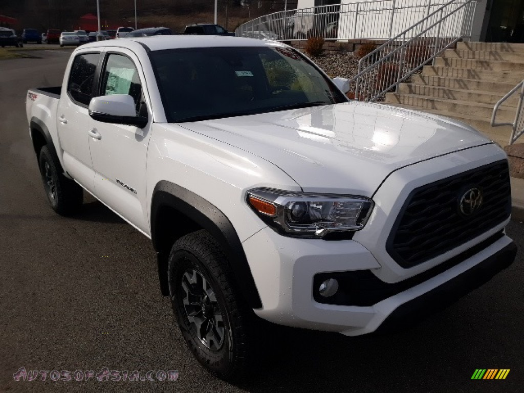 2020 Tacoma TRD Sport Double Cab 4x4 - Super White / TRD Cement/Black photo #1