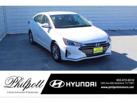 Quartz White Pearl 2020 Hyundai Elantra SEL