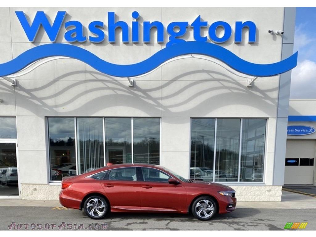 2020 Accord EX-L Sedan - Radiant Red Metallic / Ivory photo #1