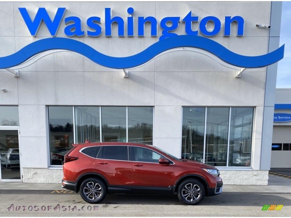 2020 CR-V EX AWD - Radiant Red Metallic / Gray photo #1