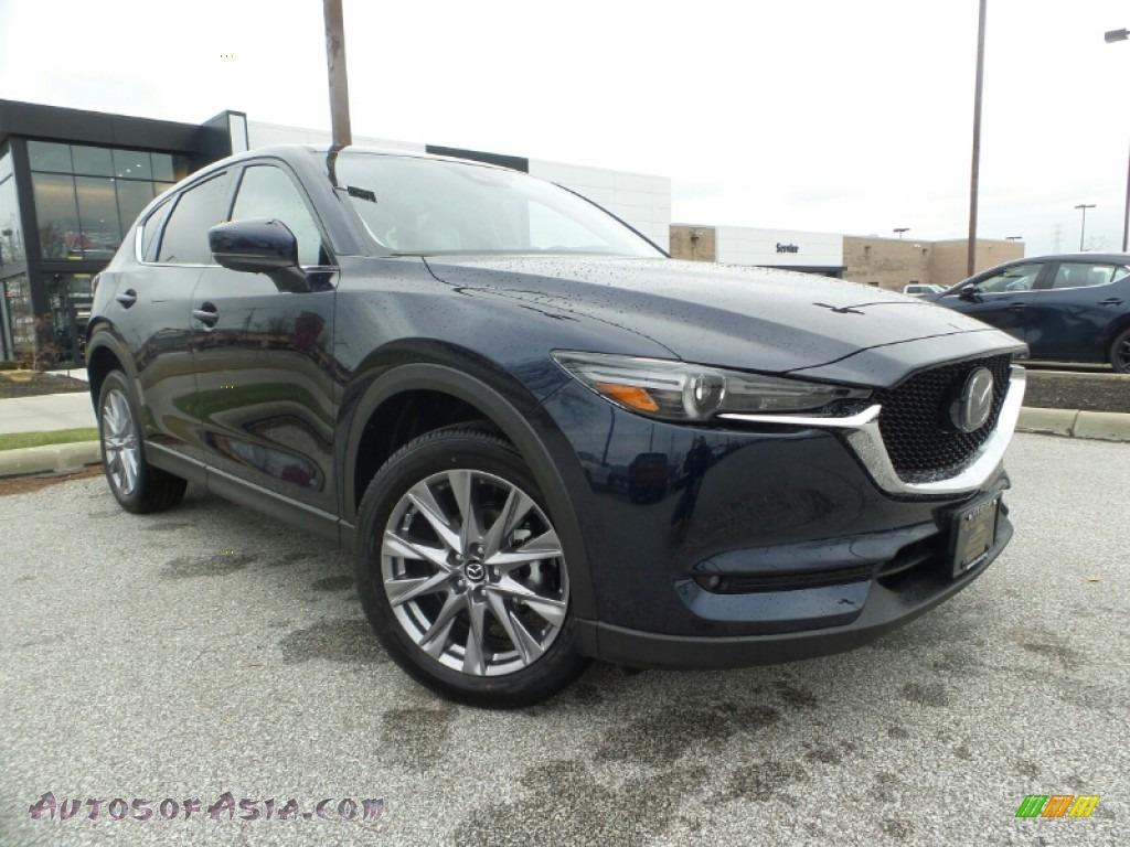 2020 CX-5 Grand Touring AWD - Deep Crystal Blue Mica / Parchment photo #1