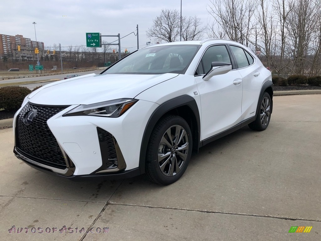 2020 UX 250h F Sport AWD - Ultra White / Circuit Red photo #1