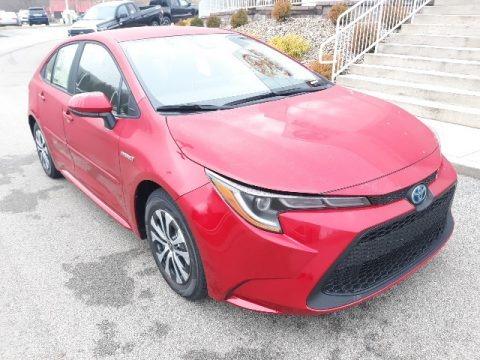 Barcelona Red Metallic 2020 Toyota Corolla LE Hybrid
