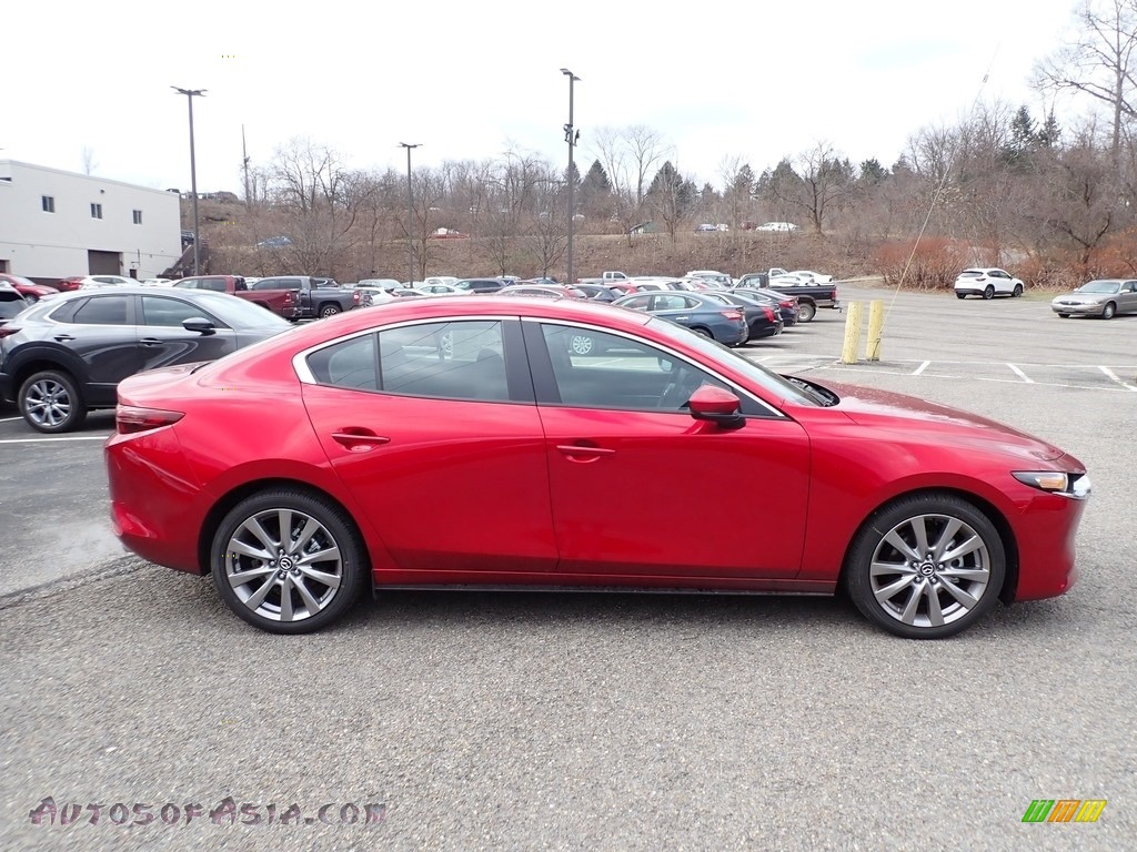 2020 MAZDA3 Select Sedan AWD - Soul Red Crystal Metallic / Black photo #1