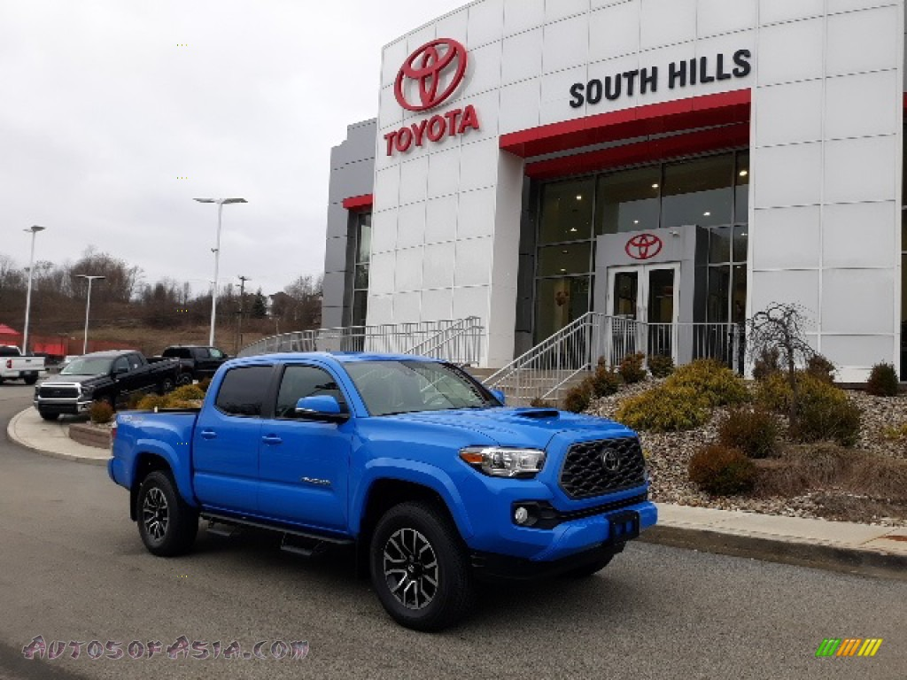 2020 Tacoma TRD Sport Double Cab 4x4 - Voodoo Blue / Cement photo #1