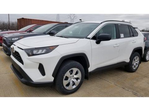Super White 2020 Toyota RAV4 LE