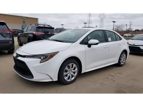 Super White 2020 Toyota Corolla LE