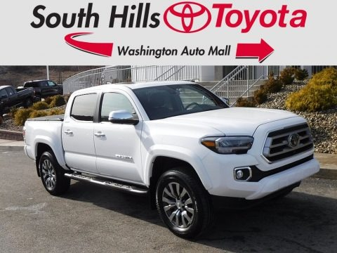 Blizzard White Pearl 2020 Toyota Tacoma Limited Double Cab 4x4