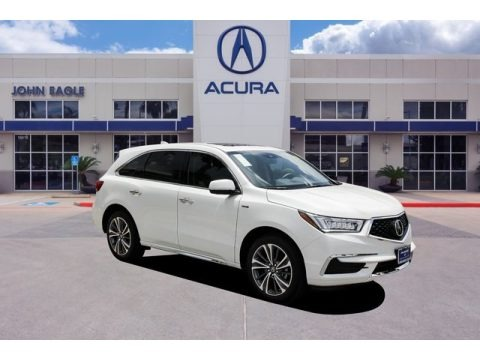 Platinum White Pearl 2020 Acura MDX Sport Hybrid SH-AWD