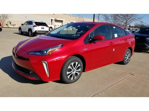 Supersonic Red 2020 Toyota Prius LE AWD-e
