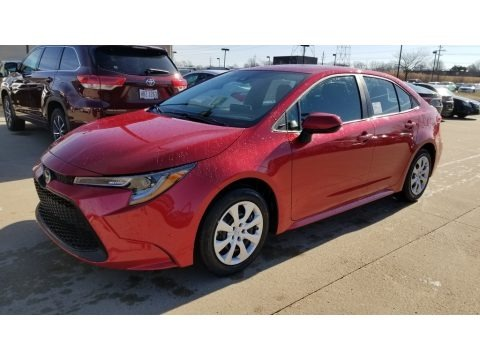 Barcelona Red Metallic 2020 Toyota Corolla LE