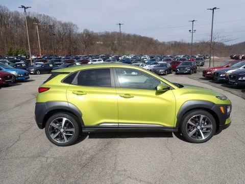 Lime Twist 2020 Hyundai Kona Limited AWD
