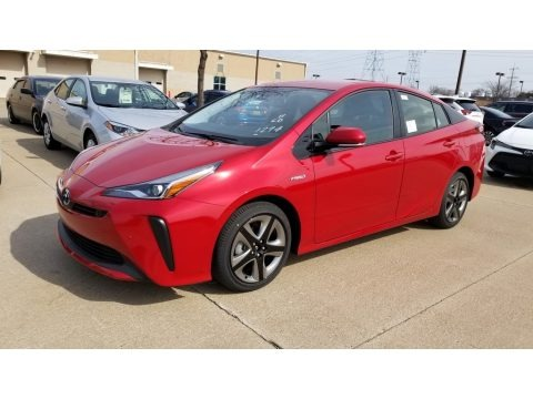 Supersonic Red 2020 Toyota Prius XLE