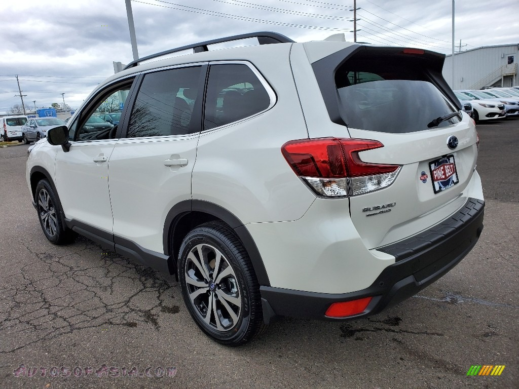 2020 Forester 2.5i Limited - Crystal White Pearl / Gray photo #6