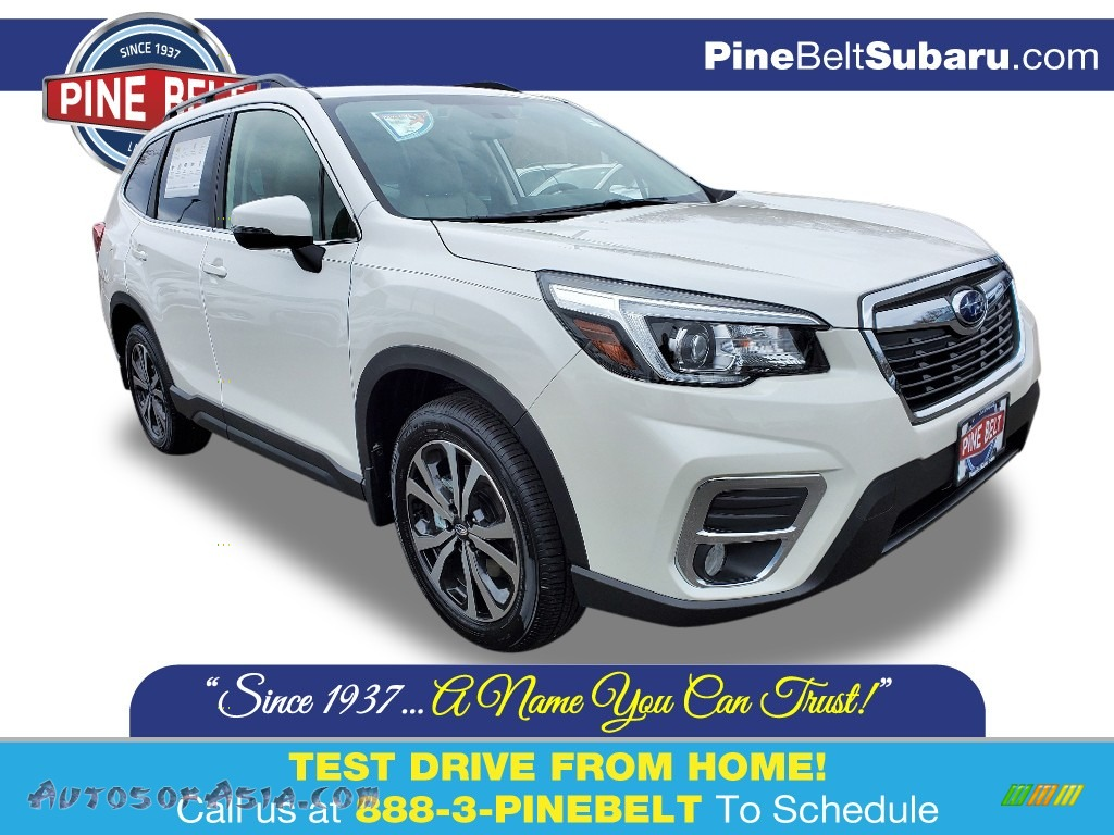 Crystal White Pearl / Gray Subaru Forester 2.5i Limited
