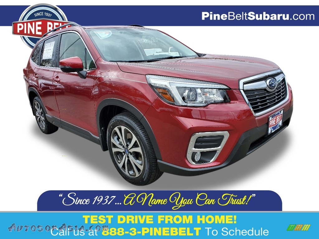 2020 Forester 2.5i Limited - Crimson Red Pearl / Gray photo #1