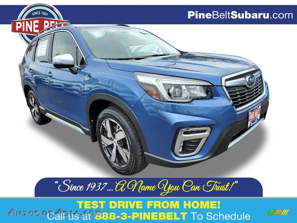2020 Forester 2.5i Touring - Horizon Blue Pearl / Saddle Brown photo #1