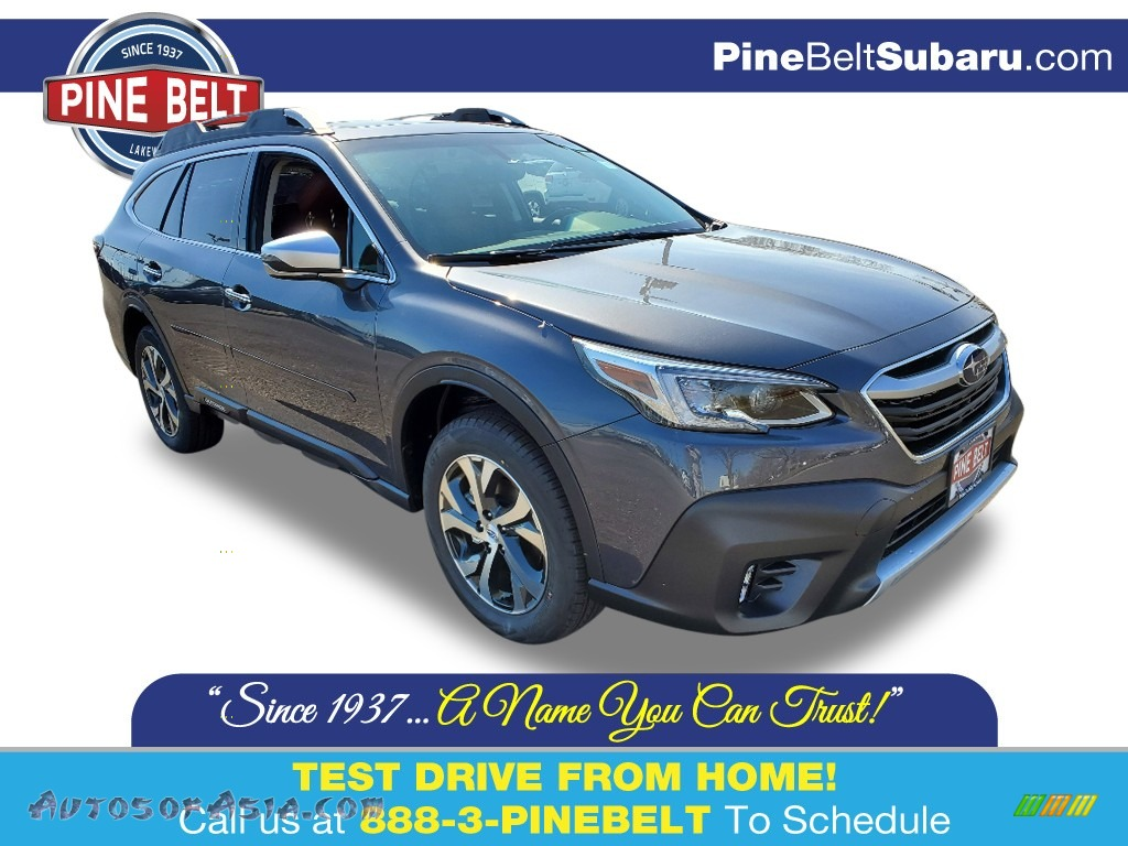 Magnetite Gray Metallic / Java Brown Subaru Outback Touring XT
