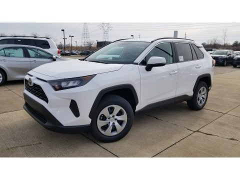 Super White 2020 Toyota RAV4 LE AWD