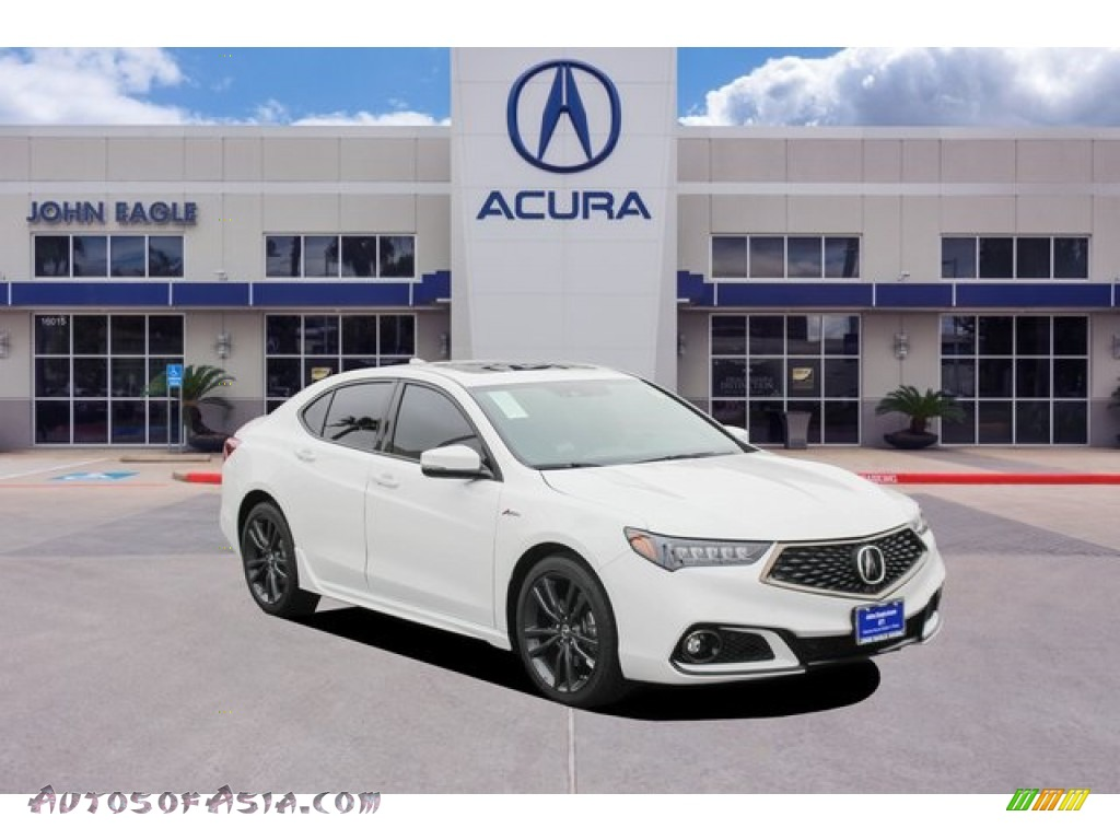 Platinum White Pearl / Ebony Acura TLX V6 A-Spec Sedan