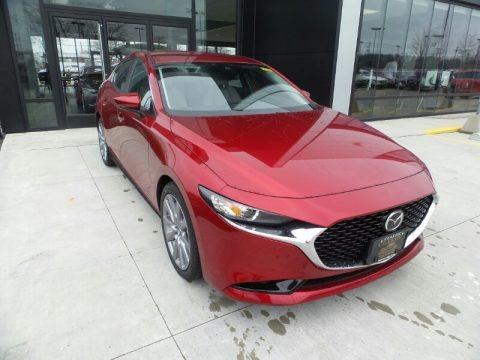 Soul Red Crystal Metallic 2020 Mazda MAZDA3 Preferred Sedan AWD