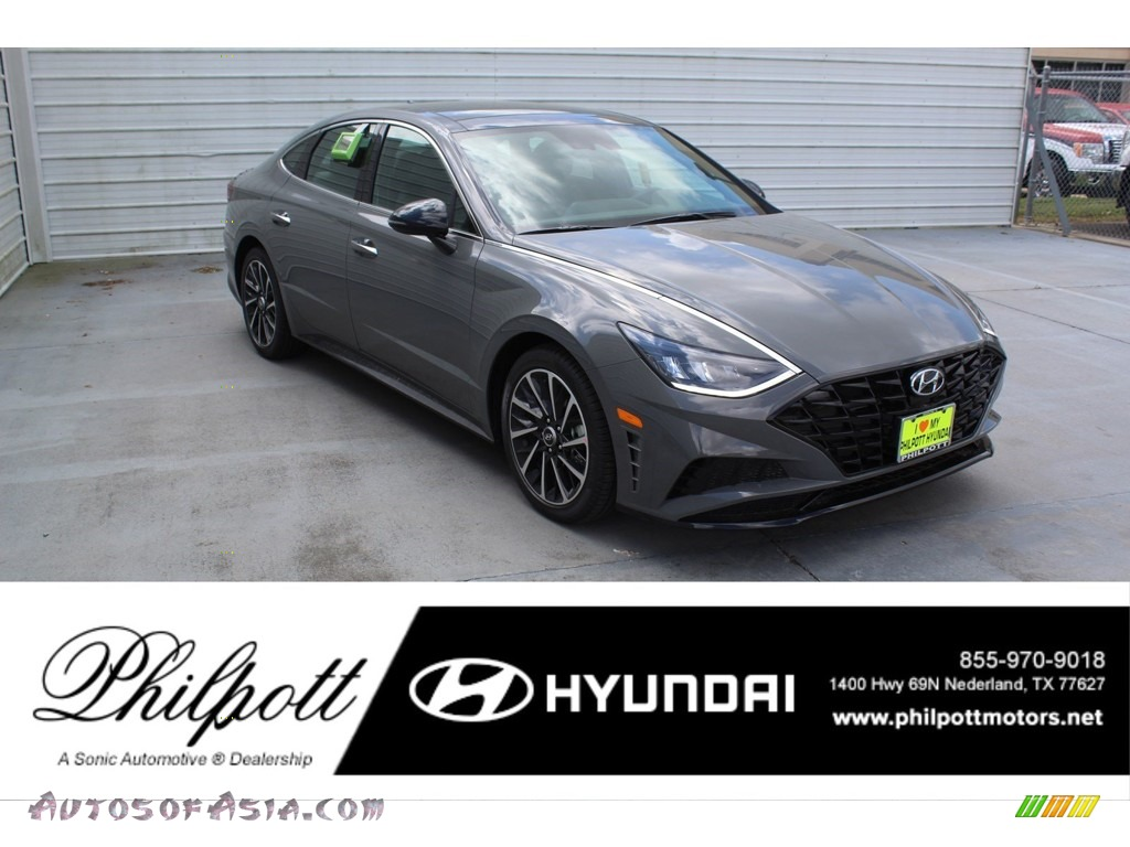 2020 Sonata SEL Plus - Hampton Gray / Black photo #1