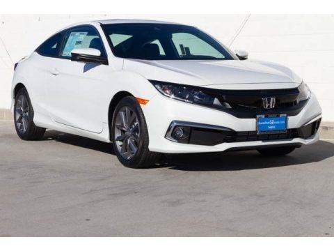 Platinum White Pearl 2020 Honda Civic EX Coupe