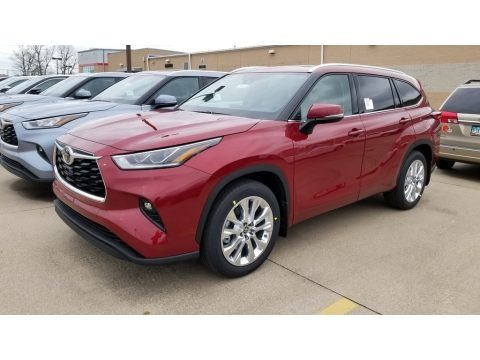 Ruby Flare Pearl 2020 Toyota Highlander Limited AWD