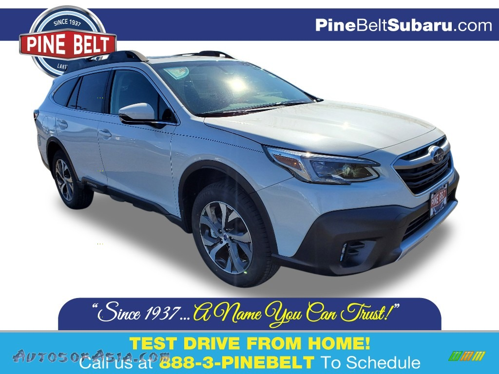 2020 Outback 2.5i Limited - Crystal White Pearl / Slate Black photo #1