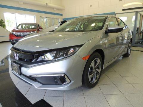 Lunar Silver Metallic 2020 Honda Civic LX Sedan