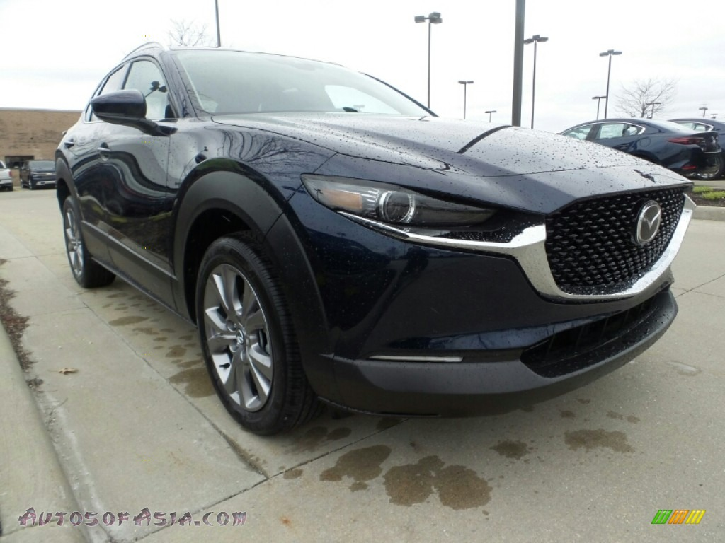 2020 CX-30 Premium AWD - Deep Crystal Blue Mica / Black photo #1